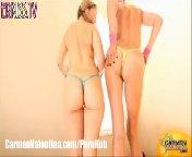 скриншот для Скачать порно бесплатно: Кармен и Валентина после фитнеса ласкают писи